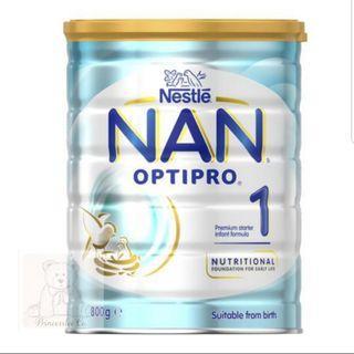 Free delivery - Nan Optipro 1 / NAN HA 1 /Aptamil 1/ Bellamys 1