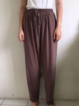 Brown Drawstring Pants