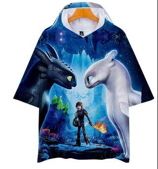 How to train your dragon hoodie t-shirt