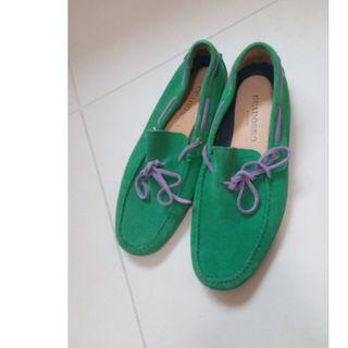 Scarosso Green Suede Leather Shoes Size 40