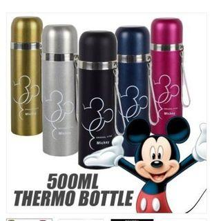 500ml Mickey Mouse Bullet Thermos Bottle Stainless Steel Mug Flasks