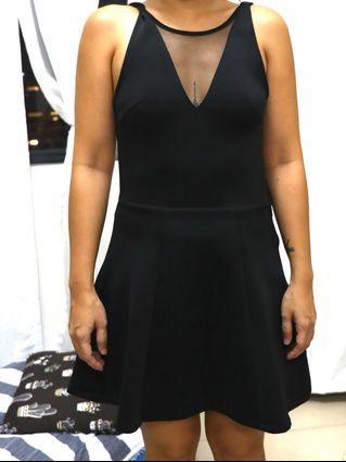 Black Cocktail Dress Sexy Back