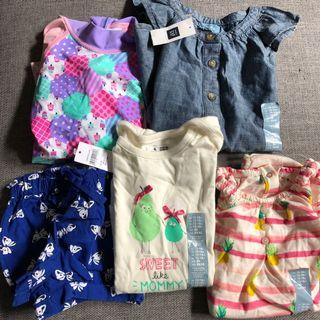 5 x baby clothes new