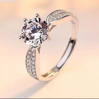 Women Engagement Diamond Ring free size