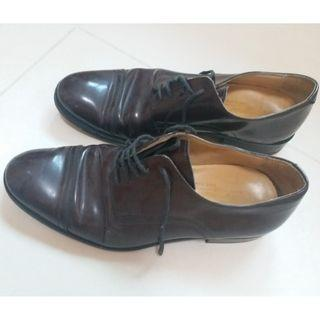 Italian Brown Leather Shoes Size 39