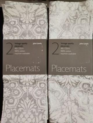 John Lewis placemats 4 pcs bought in london