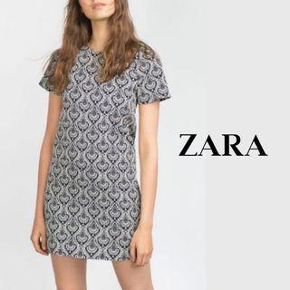 ZARA   Brocade Shift Dress