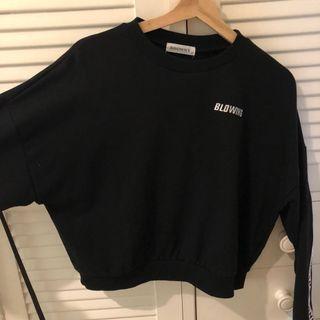 black cropped jumper