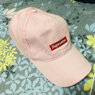 全新supreme粉色帽子