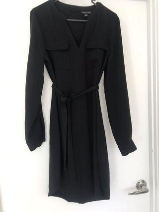 Black dress with tie size 10