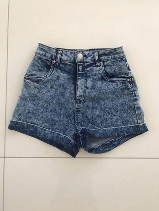 Cotton on denim shorts size 8