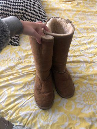 Authentic knee high UGG boots