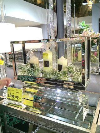 Luxury Hotel Glass/Mirror CandleHolder (LARGE)