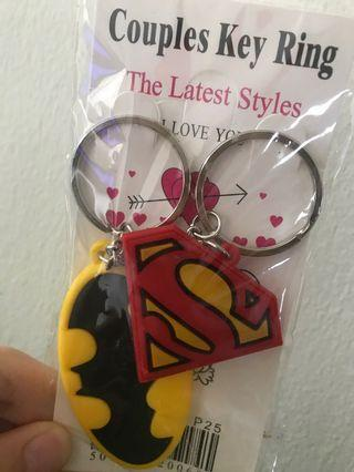 Batman Superman keychain