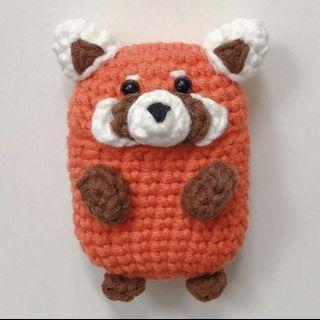 Red Panda Handmade Airpods Case Crochet
