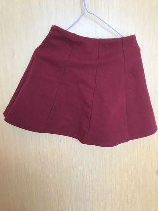 🚚 Maroon Skorts Skirt