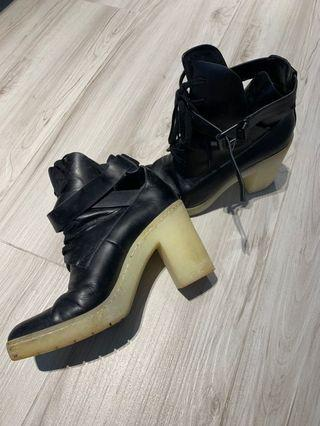 Alexander Wang high heel shoes leather black 80% new