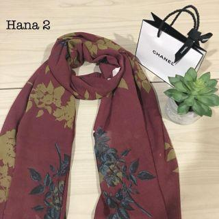 Maroon floral scarf/pashmina