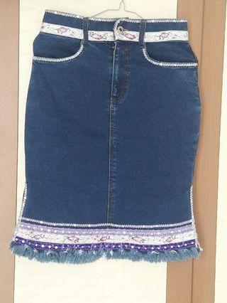 Rok Jeans etnik remaja