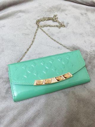 二手tiffany藍 可斜背錢包 一個 (非Tiffany)