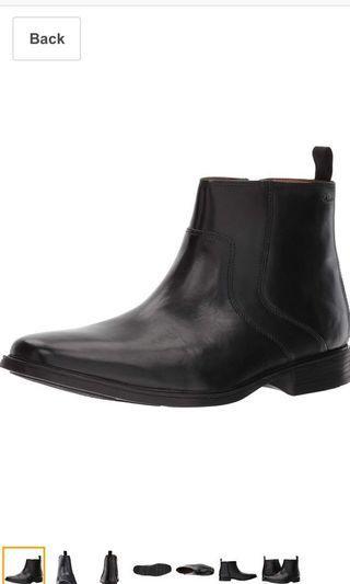 Clarks men Tilden Zip Chelsea Boots UK9 Euro43