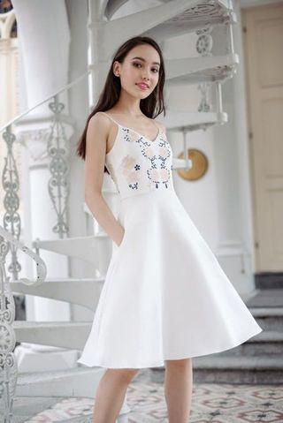 Thread Theory Wishing On Willow Embroidered White Dress