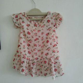 Atasan bunga /mini dress