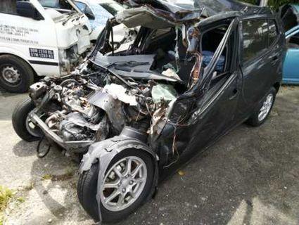 Perodua Axia 1.0G Scrap Wreck