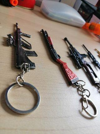 Pubg 槍鎖匙扣(9️⃣成新)