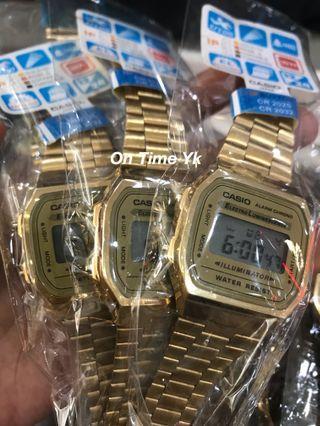 Jam Tangan Casio A168WG-9EF Gold Vintage