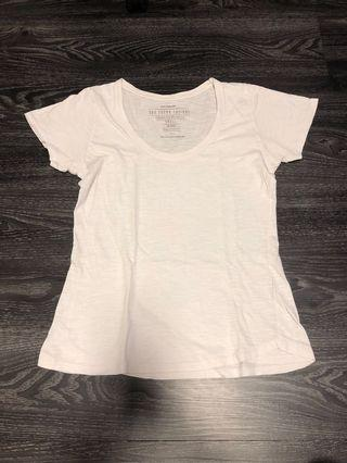 Cotton On Scoop Neck T-Shirt (White)
