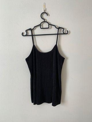 Black Pleated Tank