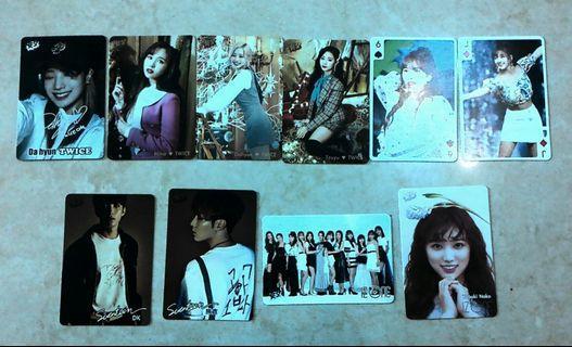 $2 Yescard (NCT127, Apink, Twice Tzuyu, Mina, Dahyun)