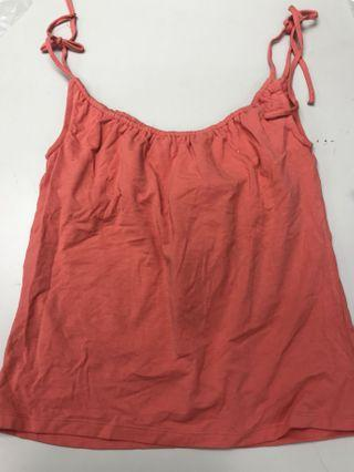 Polo jeans tank top in coral color