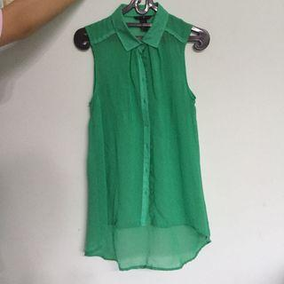 Top atasan hijau green H&M