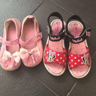 Disney Dora Minnie Mouse sandals shoes pink red