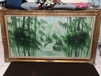 Wall Painting with frame - Feng Shui