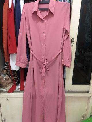 blouse panjang pink