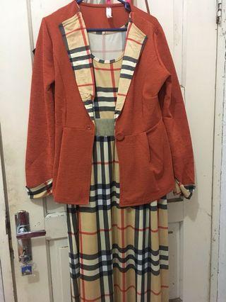longdress with blazer