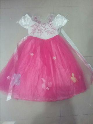 Party Dress anak Pink & White