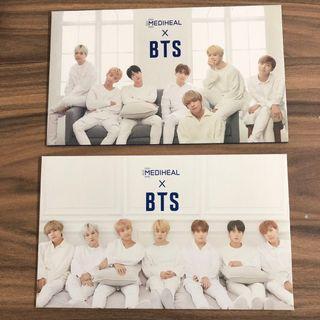 wts bts mediheal full postcard set