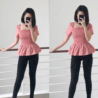 Peplum Candy Top Pink
