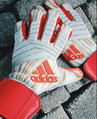 Adidas Predator Pro White & Red Goalkeeper Gloves