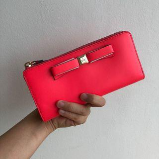 KATE SPADE Montford Park Smooth Nisha Wallet Pink