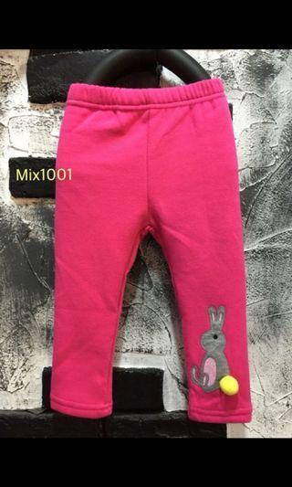 🚚 現貨-粉色小兔子長褲(11號)