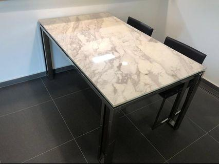🚚 Marble dining table #homerefresh30