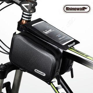 Rhinowalk-全新自行車超音波融合防水觸控馬鞍袋 高頻焊接馬鞍包 腳踏車前梁包 單車上管包 手機架 手機包 手機袋