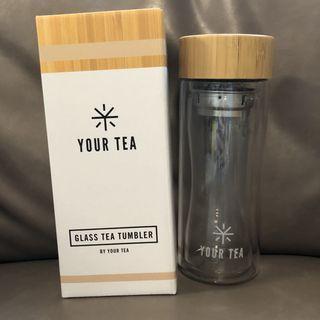 YOUR TEA Glass Tea Tumblee