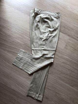 Cotton Suit Trousers in stripe 全棉 長褲 女裝西褲