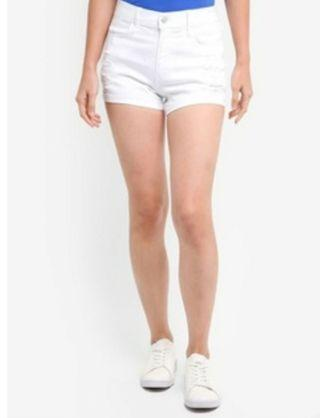 🚚 Hollister destroyed advance straight shorts white w29